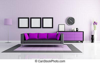 modern purple lounge