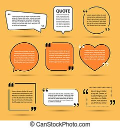 modern quote text template design elements