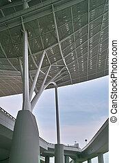 Modern railway station architecture