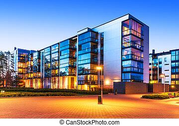 modern, real estate