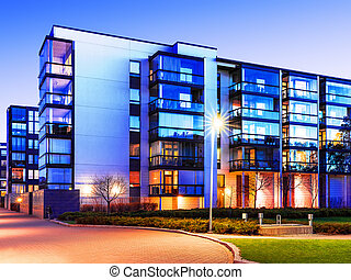 Modern real estate - Creative abstract house building and...