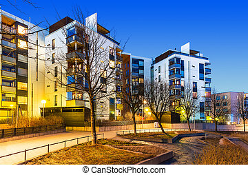 Modern real estate - House building and city construction...