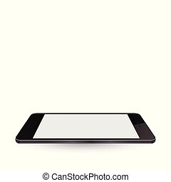 Modern realistic smartphone with blank screen and shadows