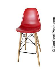Modern red bar chair.