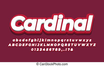 modern red color 3d color text effect
