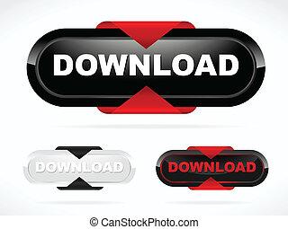 Modern Red Download Button