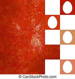 Modern red Easter background. EPS 8