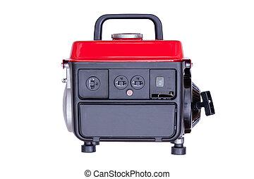 Modern red petrol powered generator - Modern red petrol...