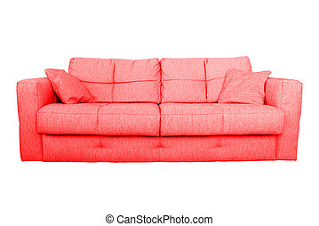 Modern red sofa. Modern red sofa contemporary style in ...