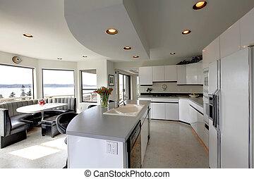 Modern refreshing kitchen interior