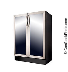 Modern Refrigerator on white background