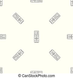 Modern remote control conditioner pattern seamless vector...