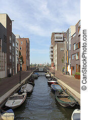 Modern residential area in Amsterdam