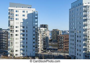 Modern residential area in Gothenburg