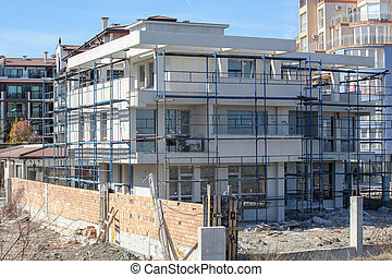Modern Residential Building In The Center Of The Town Of Pomorie, Bulgaria.