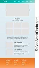 Modern response homepage. Web design