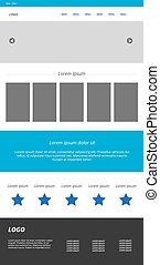 Modern responsive web template. Menu, carousel, banners, text, i