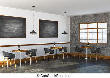 Modern restaurant interior side