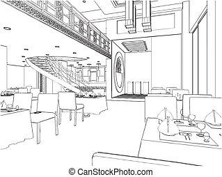 Modern Restaurant Vector