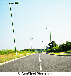 Modern road - A modern road in rural England in summer