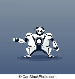 Modern Robot Artificial Intelligence Futuristic Mechanism Technology