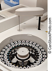modern robotical machine for centrifuge blood and urine...