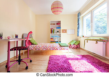 Modern room for a girl - Interior of a modern room for a...
