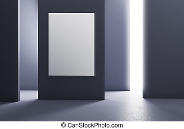 Modern room with billboard