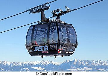 Modern ropeway FUNITEL at hill Chopok - Low Tatras, Slovakia...