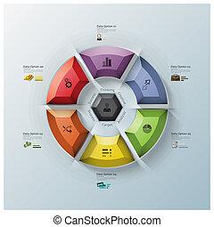 Modern Rotate Circle Propeller Three Dimension Polygon...