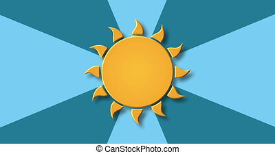 modern rotation sun background.