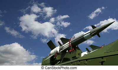 Modern Russian anti-aircraft missiles  against the sky