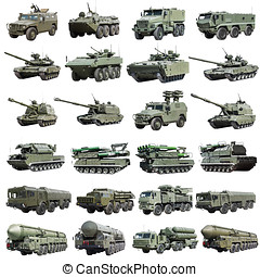 modern Russian armored military vehicles isolated