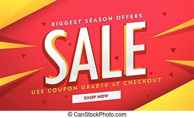 modern sale and promotion banner design template