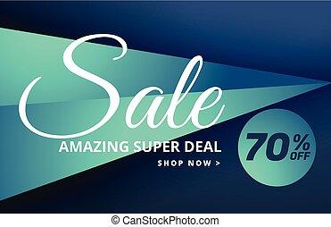 modern sale banner design with offer details