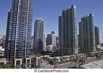 Modern San Diego - Modern apartment towers transform the...