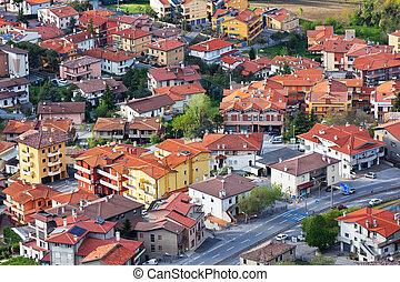 Modern San Marino Suburban districts view from above. ...