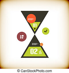 Modern sand clock infographics options banner