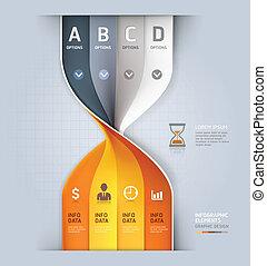 Modern sandclock spiral infographic