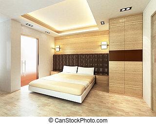 modern, schalfzimmer