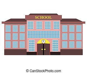 modern school building flat design