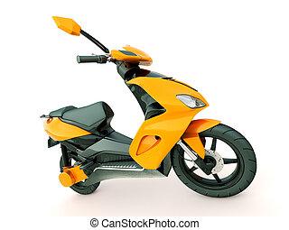 Modern scooter - Modern powerful sports scooter on a light...
