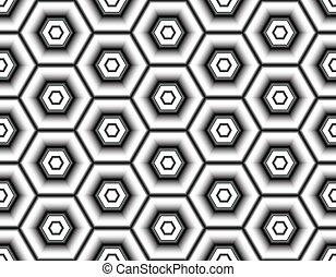 Modern seamless illusion of snowflakes bright colours