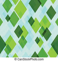 Modern Seamless Pattern with Diamonds