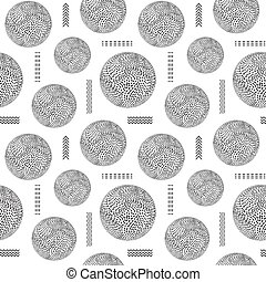 seamless pattern with striped balls
