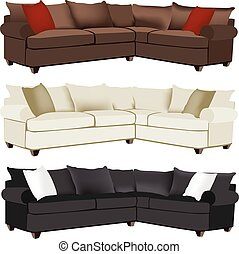 Modern Sectional Sofa  sc 1 st  Can Stock Photo : sectional sofa clips - Sectionals, Sofas & Couches