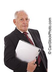 Modern senior businessman