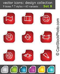 Modern set of design elements 8