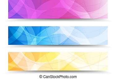 Modern set of vector Banner Header
