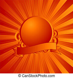 modern shield orange